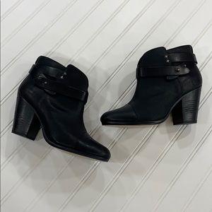 rag & bone Black Leather Harrow Booties - sz 39.5